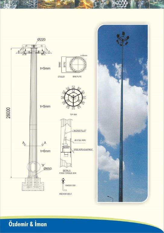 26 m Lighting Pole